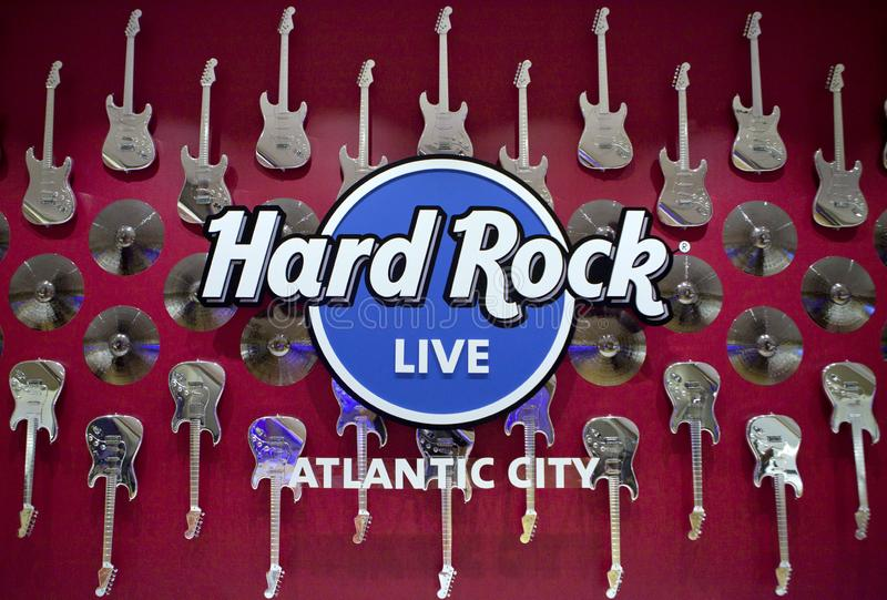 Hårt vagga kasinot i Atlantic City, nya Jeersey arkivfoto