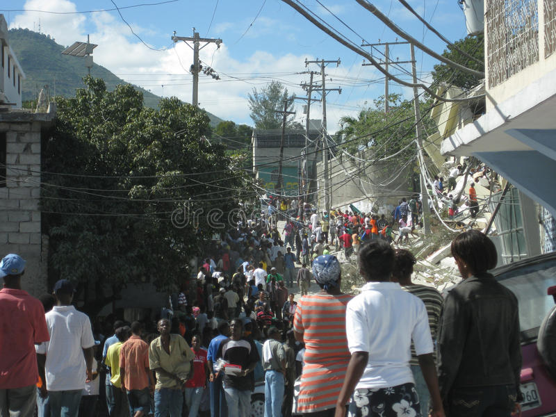 Hécatombe en le Haïti images stock