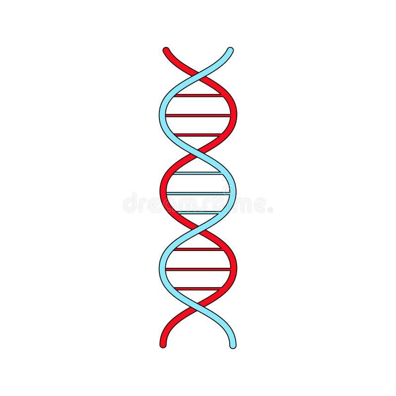 H?lice abstrata farmac?utica m?dica do gene do ADN, ?cone simples no fundo branco Ilustra??o do vetor ilustração do vetor