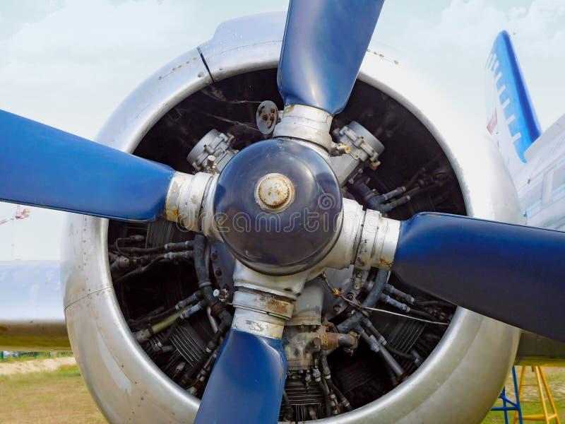 Hélice azul velha foto de stock royalty free