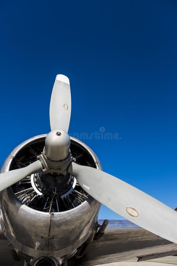 Hélice DC3 imagem de stock