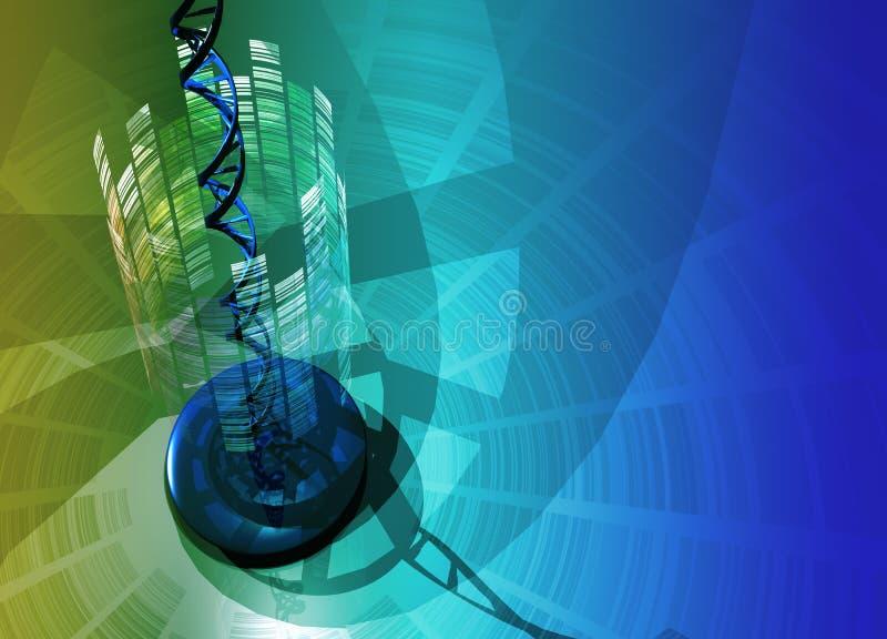 Hélice de la DNA stock de ilustración