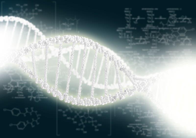 Hélice do ADN contra o fundo colorido ilustração royalty free