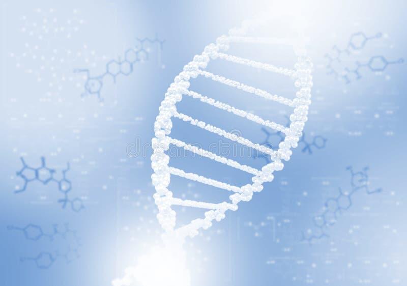 Hélice do ADN contra o fundo colorido ilustração stock