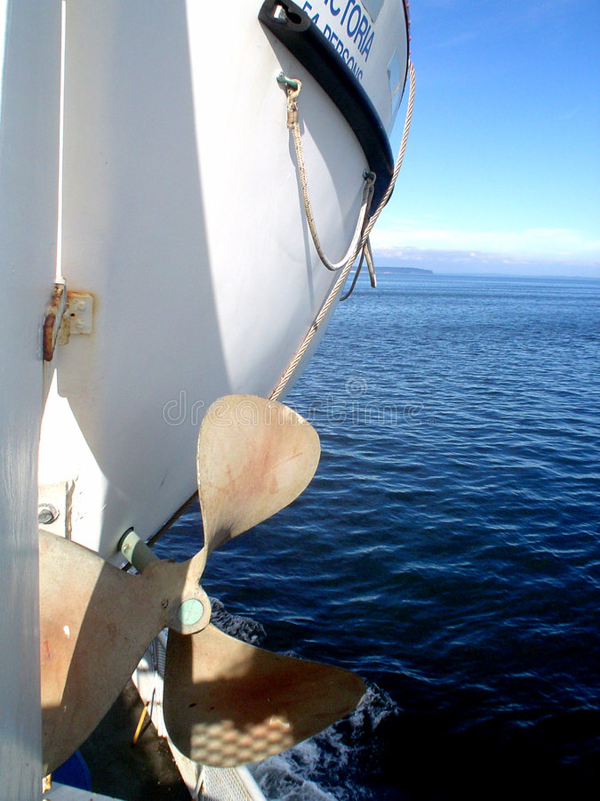 Hélice do barco fotografia de stock royalty free