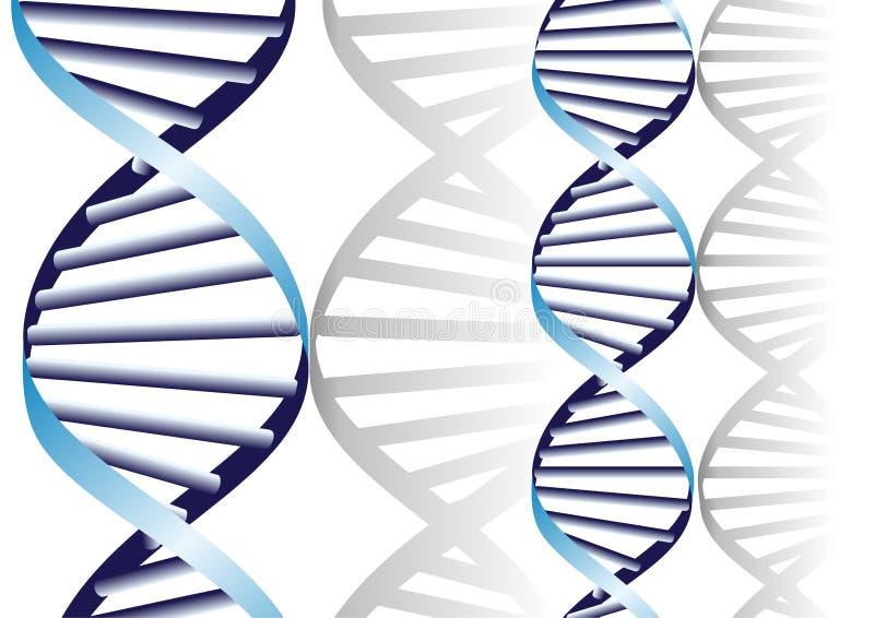 Hélice doble de la DNA libre illustration