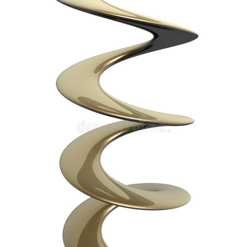 Hélice dourada ilustração stock