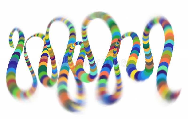 Hélice espiral colorida que converge al centro Elemento elíptico del diseño stock de ilustración