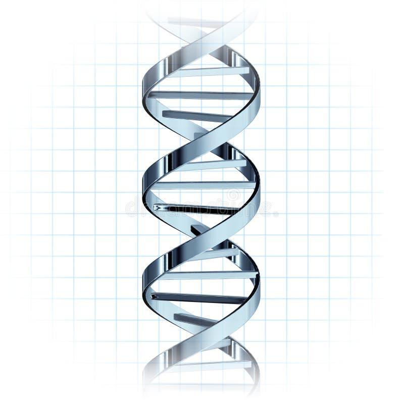 Hélice genética da costa do ADN ilustração royalty free