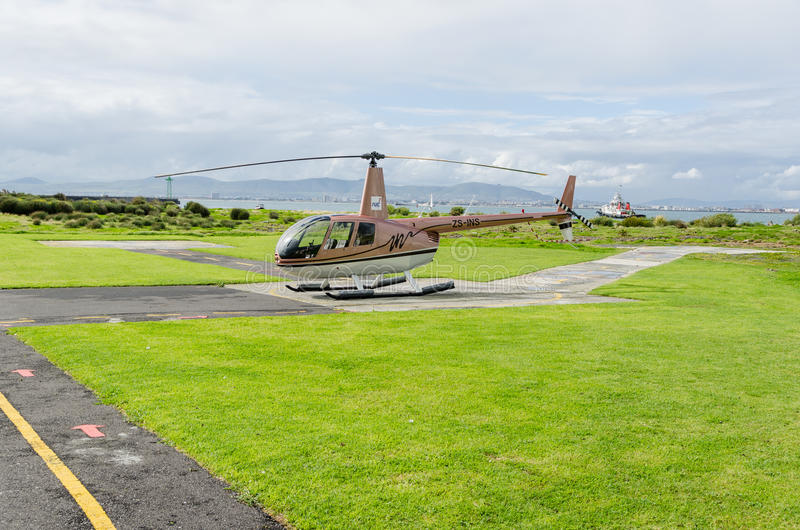 Hélicoptère à l'†«Afrique du Sud de bord de mer de Cape Town images libres de droits