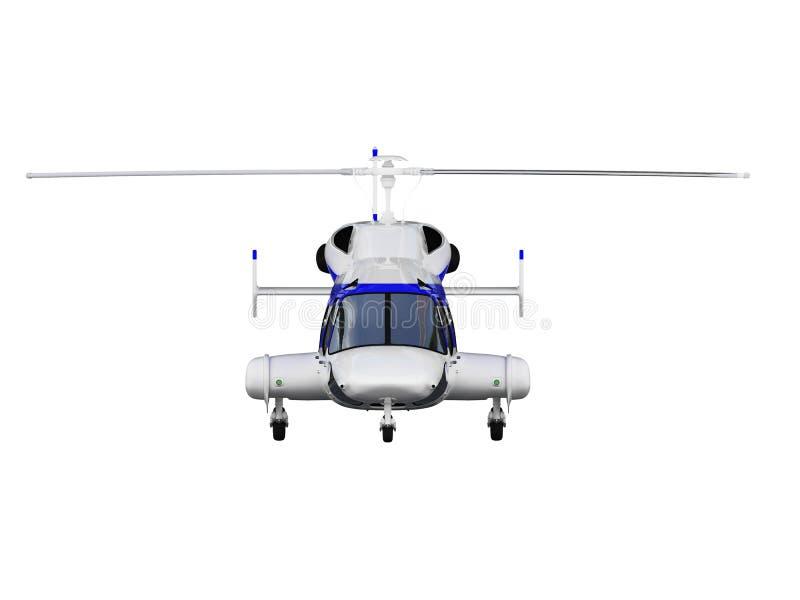 hélicoptère au-dessus de blanc illustration stock
