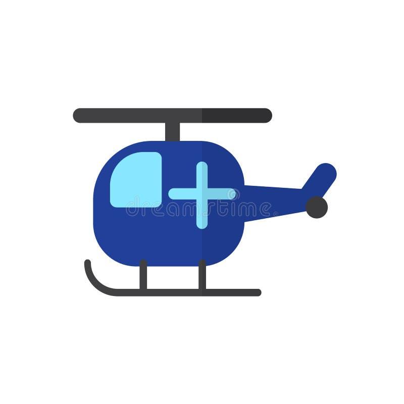 Hélicoptère avec l'icône plate croisée, signe rempli de vecteur, pictogramme coloré d'isolement sur le blanc illustration libre de droits