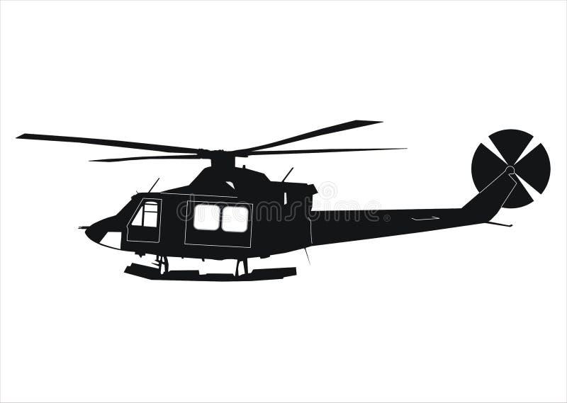 Hélicoptère Bell 412 illustration libre de droits