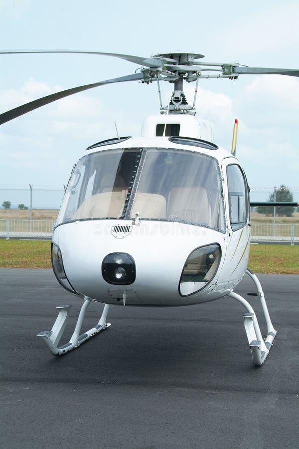Hélicoptère blanc photos libres de droits