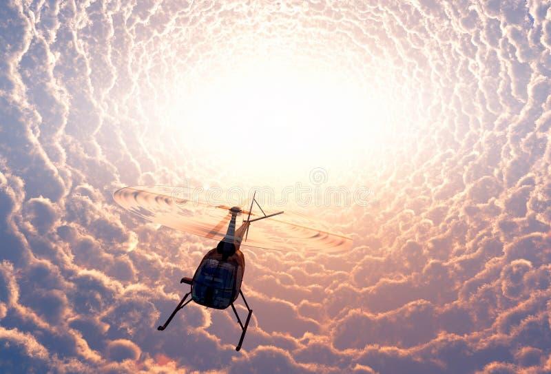 Hélicoptère civil illustration de vecteur