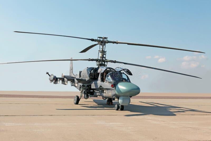 Hélicoptère combat Ka-52 photographie stock