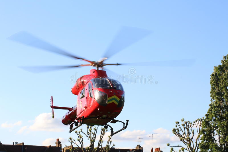 Hélicoptère d'ambulance aérienne photo stock