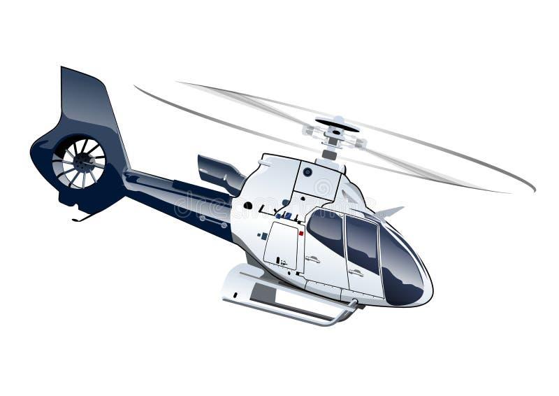 Hélicoptère de bande dessinée illustration de vecteur