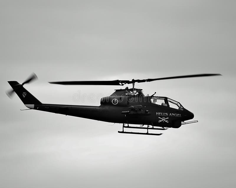 Hélicoptère de combat photo stock