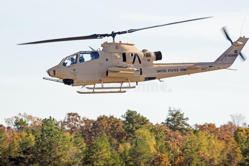 Hélicoptère de combat de cobra image libre de droits