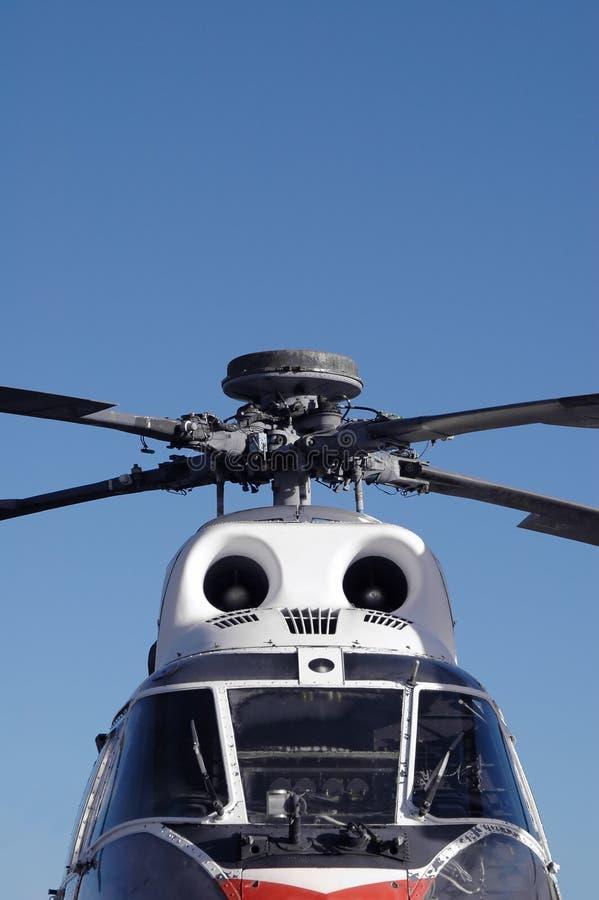 Hélicoptère de cru photo stock