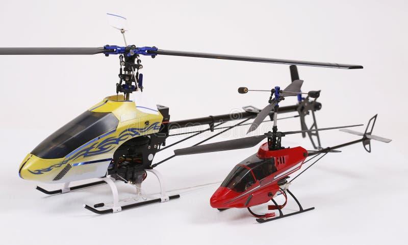 Hélicoptère de deux jouets photographie stock
