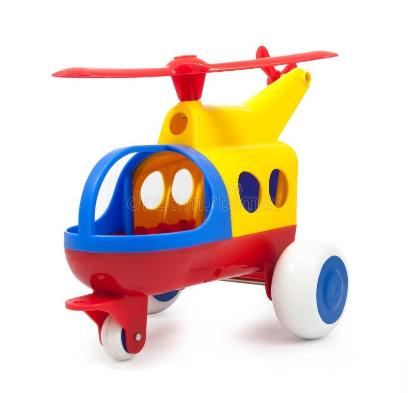 Hélicoptère de jouet d'isolement photo stock