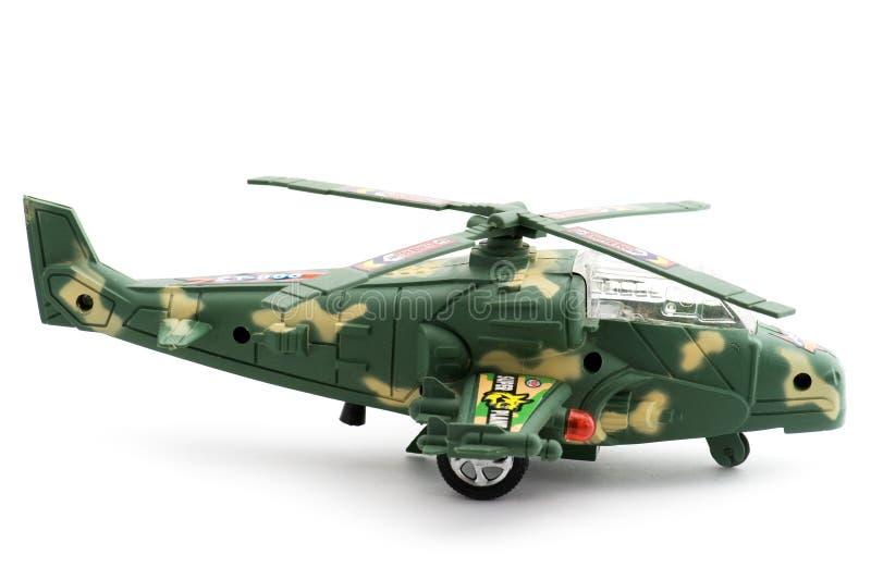 Hélicoptère de militaires de jouet image stock
