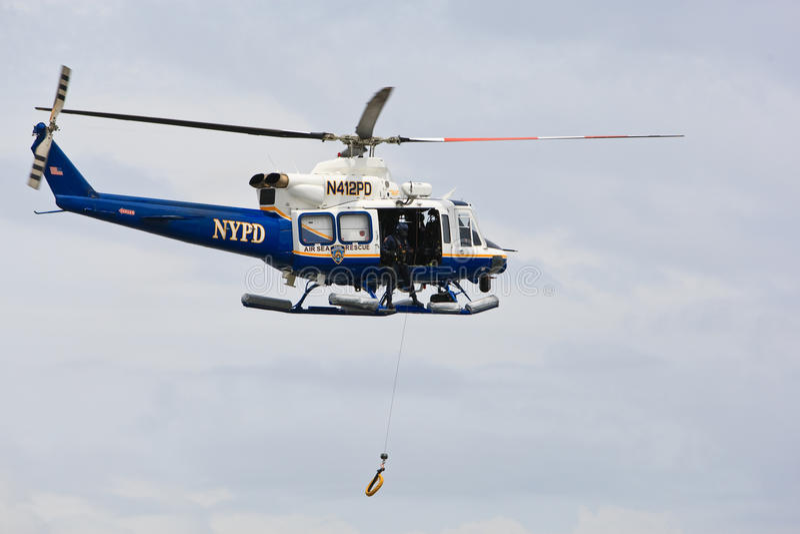 Hélicoptère de NYPD photos stock