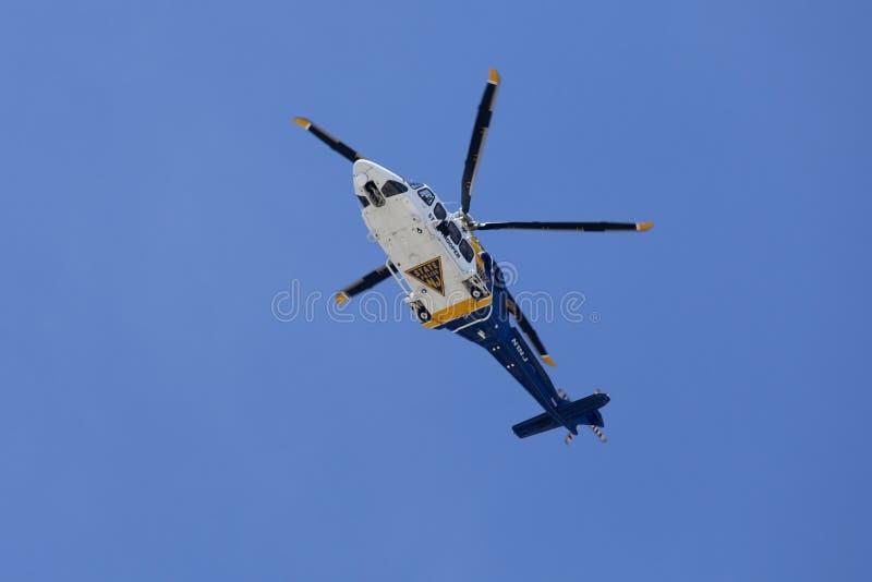 Hélicoptère de police d'état de New Jersey image libre de droits