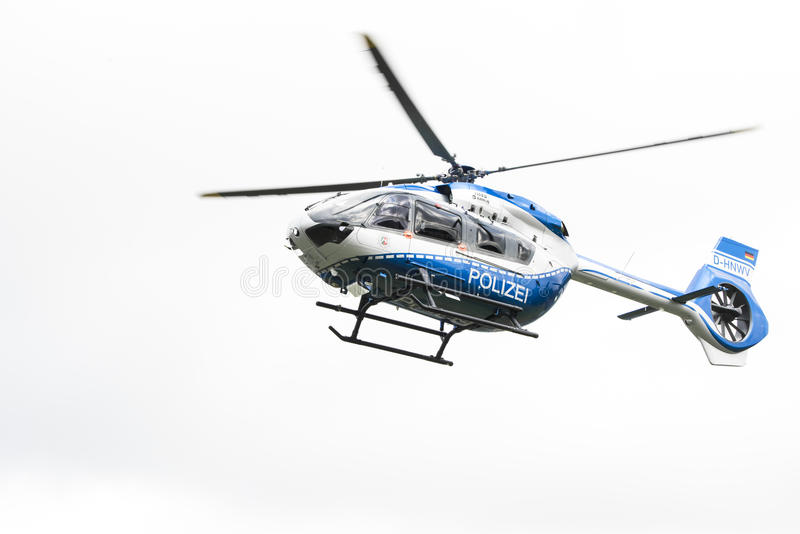 Hélicoptère de police d'Airbus image libre de droits