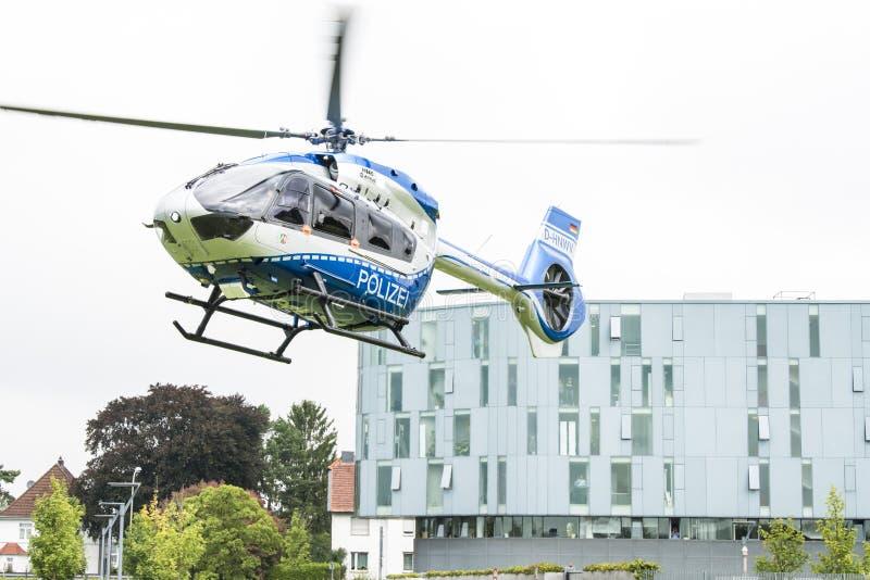 Hélicoptère de police d'Airbus photos libres de droits