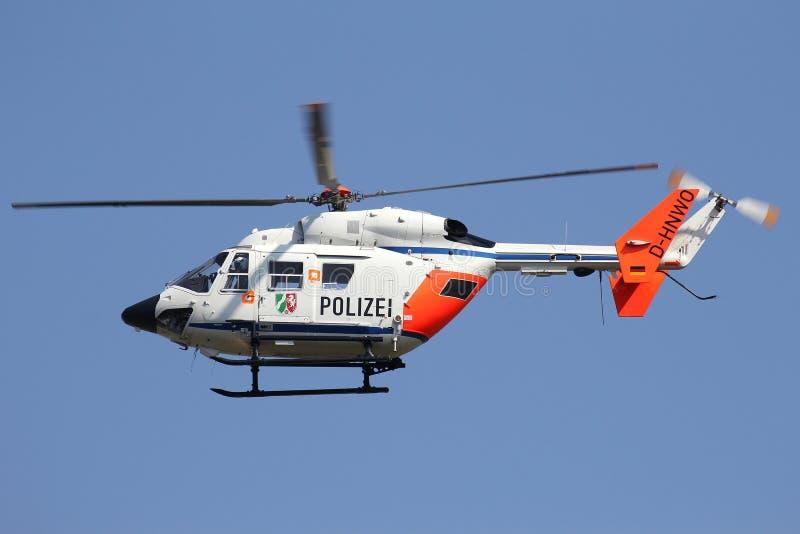 Hélicoptère de police de Rhénanie-du-Nord-Westphalie photo libre de droits