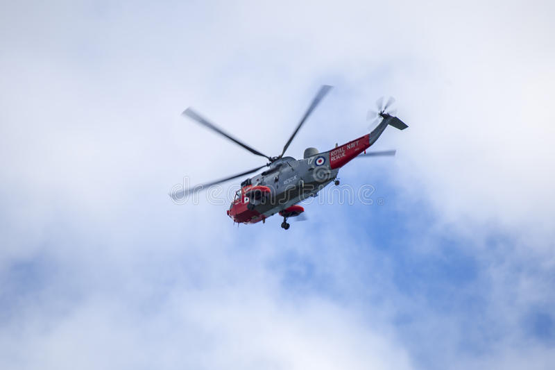 Hélicoptère de RAF photo libre de droits