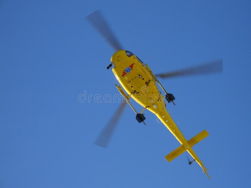 Hélicoptère de sauvetage photographie stock libre de droits
