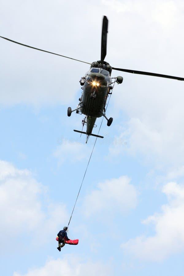 Hélicoptère de sauvetage image stock