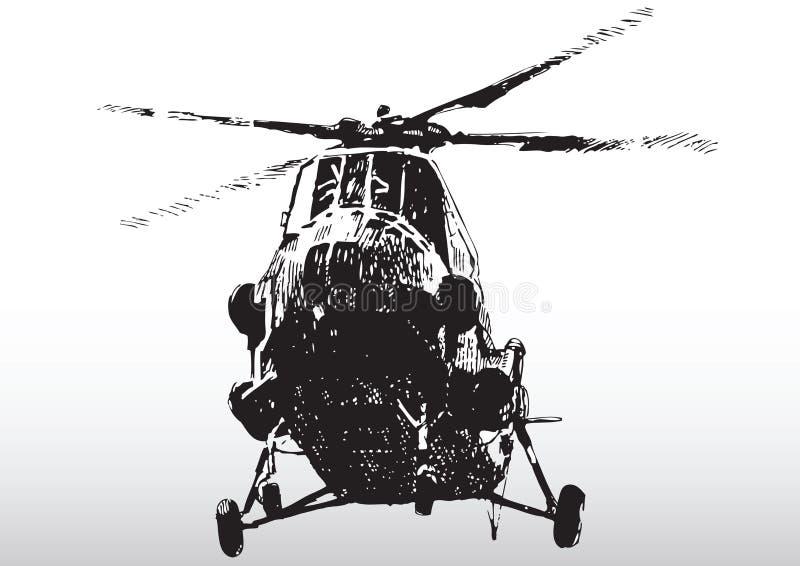 hélicoptère de vol illustration stock