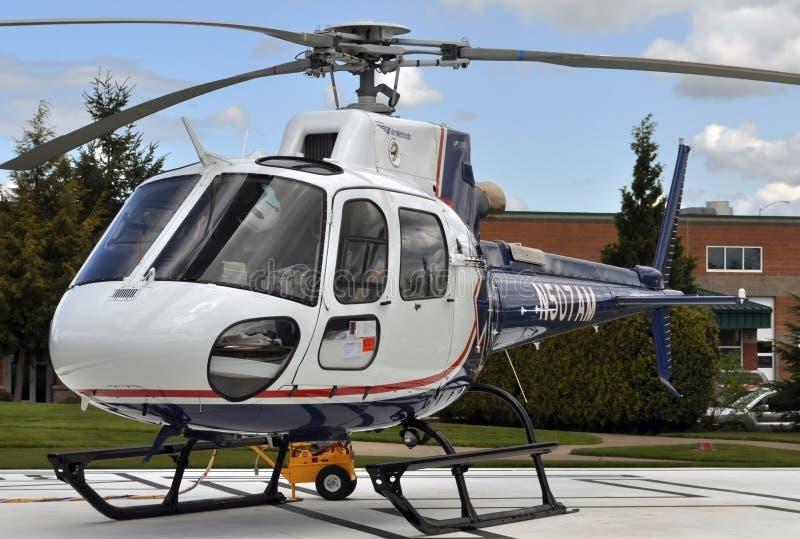 Hélicoptère de vol de durée photographie stock libre de droits
