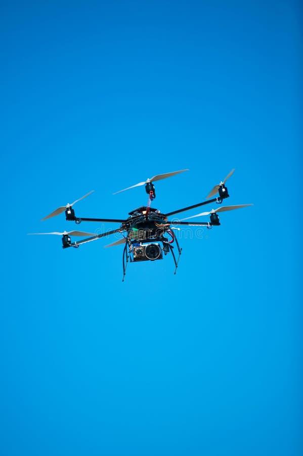 Hélicoptère expérimental de bourdon photographie stock libre de droits