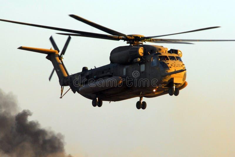Hélicoptère israélien d'étalon de mer de l'Armée de l'Air CH-53 image stock