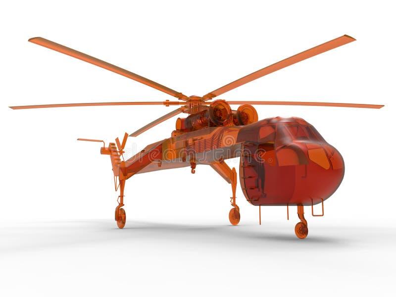 Hélicoptère logistique illustration stock