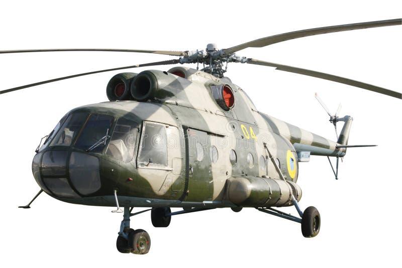 Hélicoptère Mi-8 d'isolement photos stock