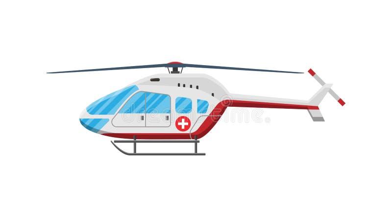 Hélicoptère rouge d'ambulance illustration libre de droits