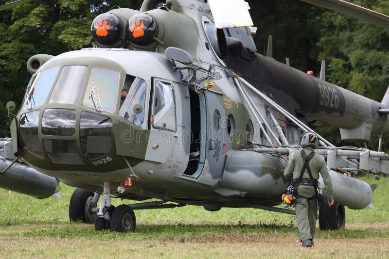 Hélicoptère tchèque de transport du mil Mi-17 de l'Armée de l'Air image libre de droits