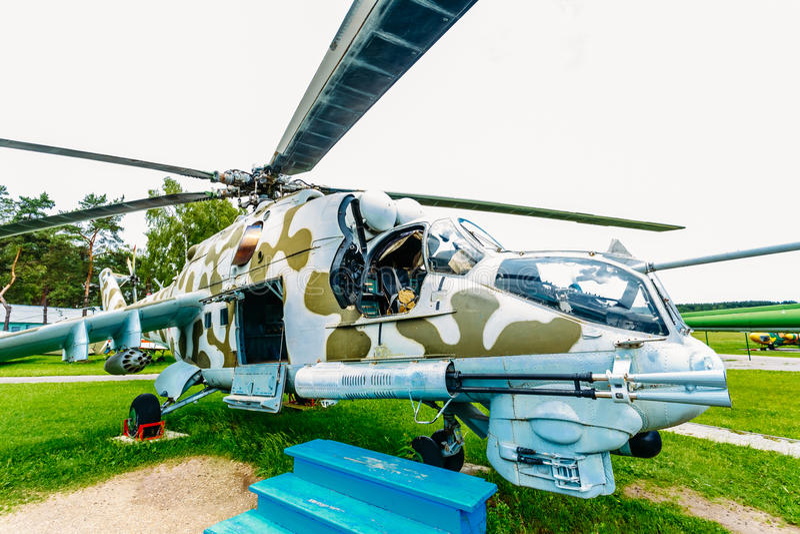 Hélicoptère universel soviétique russe de transport image stock
