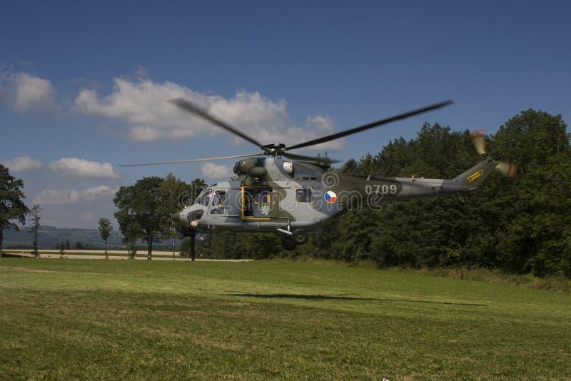 Hélicoptère universel tchèque de l'Armée de l'Air W-3A SOKOL image libre de droits