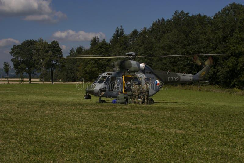Hélicoptère universel tchèque de l'Armée de l'Air W-3A SOKOL photos stock