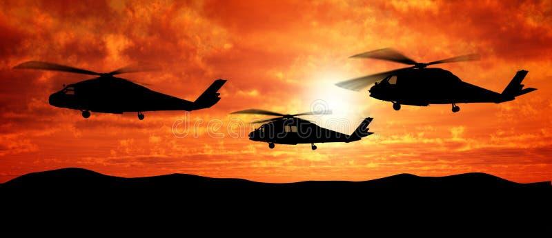 Hélicoptères image stock