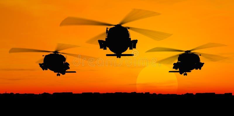 hélicoptères illustration de vecteur