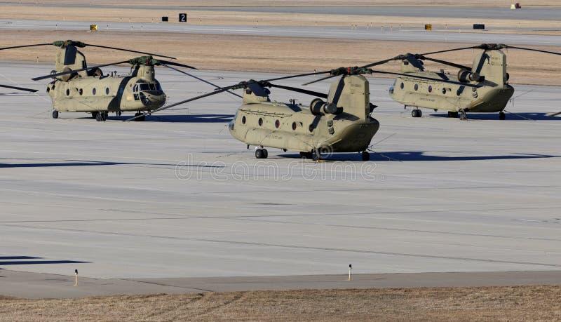 Hélicoptères chinook photos stock